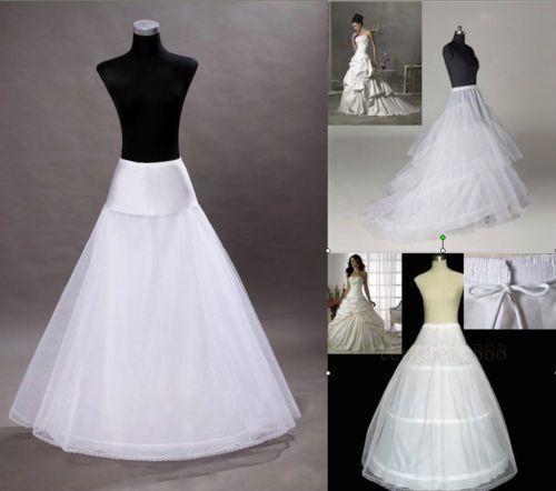 New 3 Styles Plus Sizenormal Size White Wedding Gown Petticoat Slip