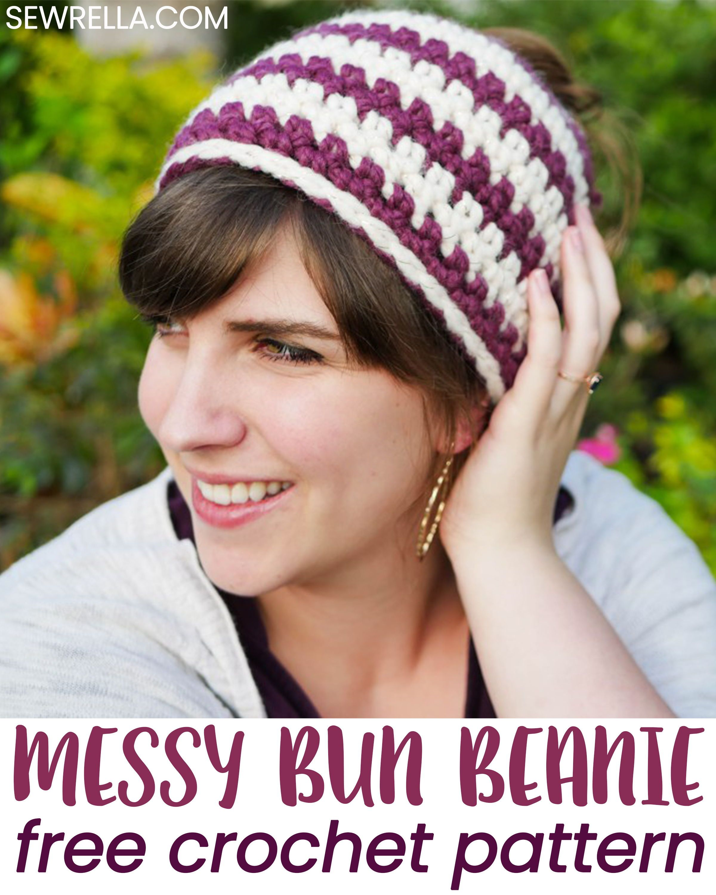 67c39bb5a4c42 My messy bun beanie is perfect heading into cooler weather! It ll still  keep your ears and noggin warm