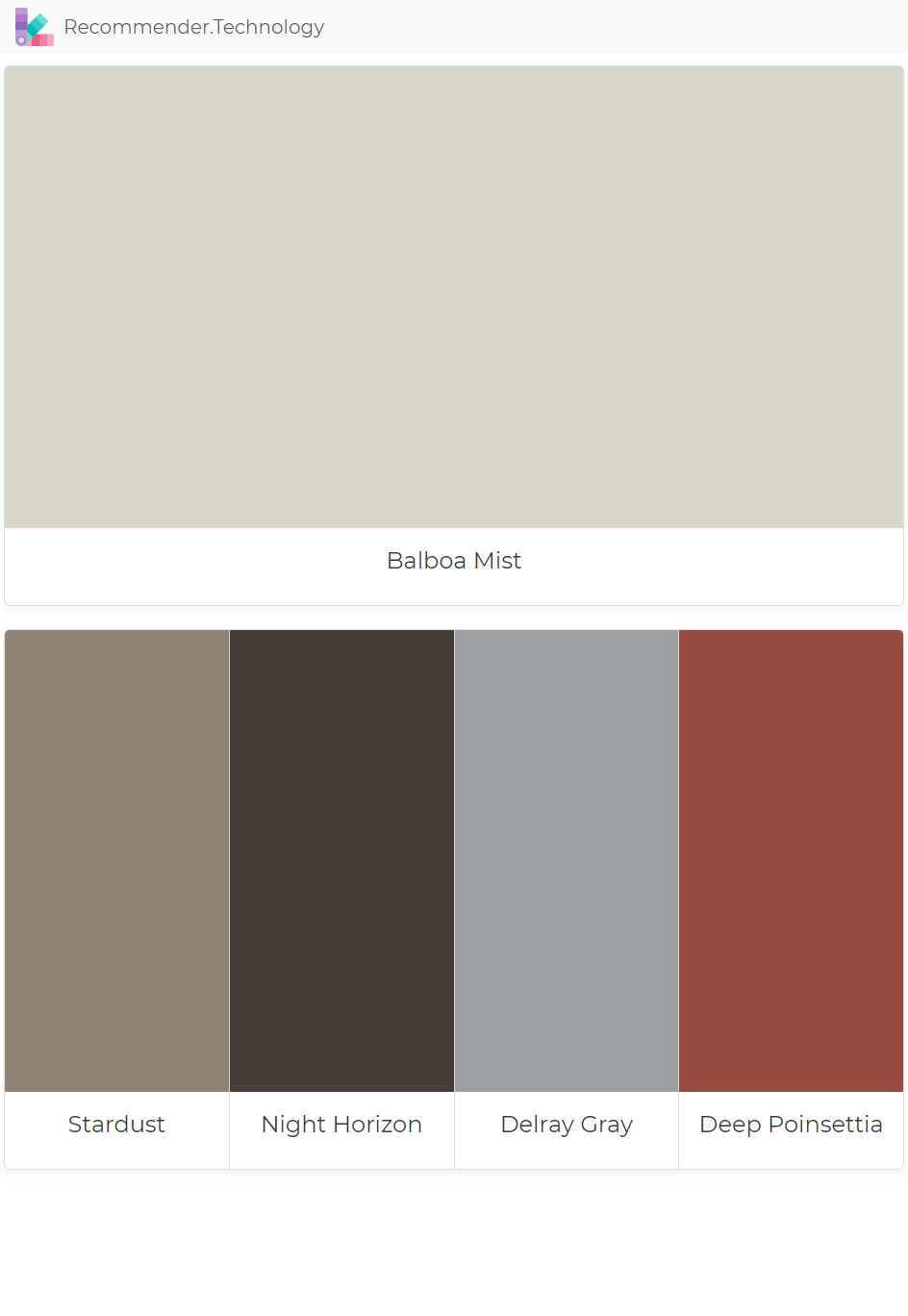 Benjamin Moore Interior Color Palette Chocolate