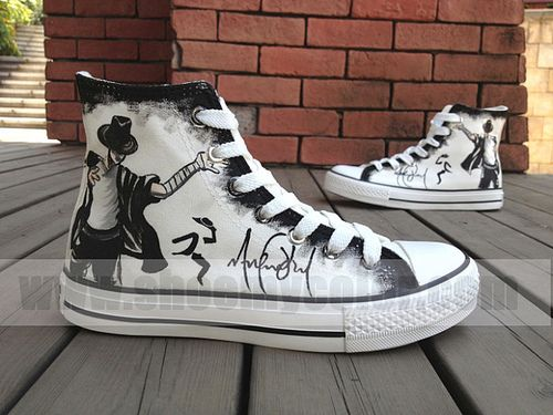 Micheal Jackson hand painted shoes