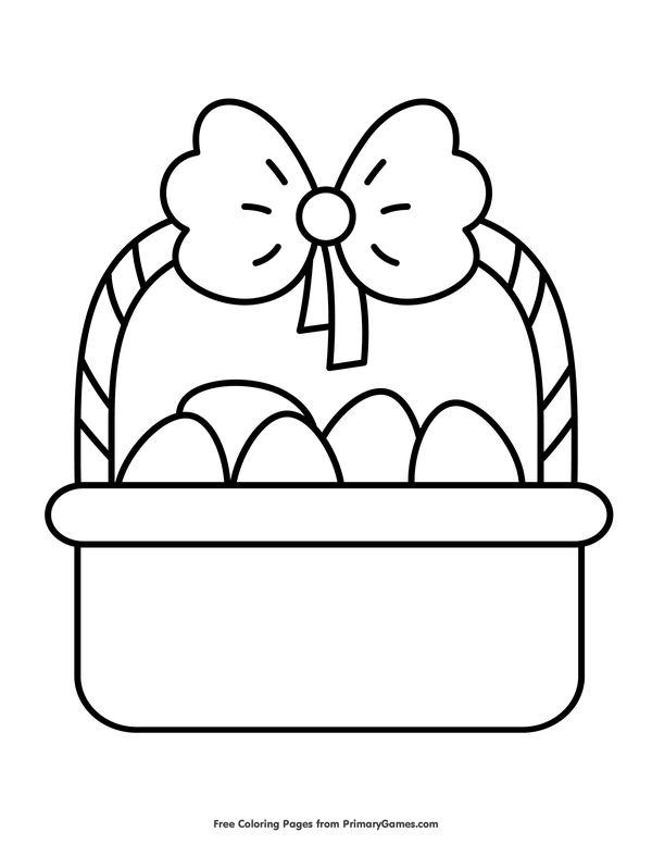 Simple Easter Basket Coloring Page Free Printable Ebook Easter Coloring Pages Printable Easter Coloring Pages Coloring Pages