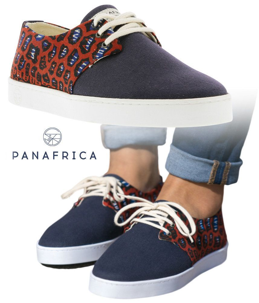 PANAFRICA | Baskets Inspiration Africaine WAX Pour Homme Et