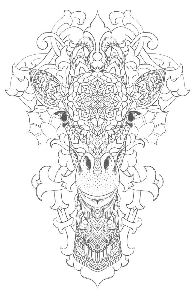 giraffe on behance