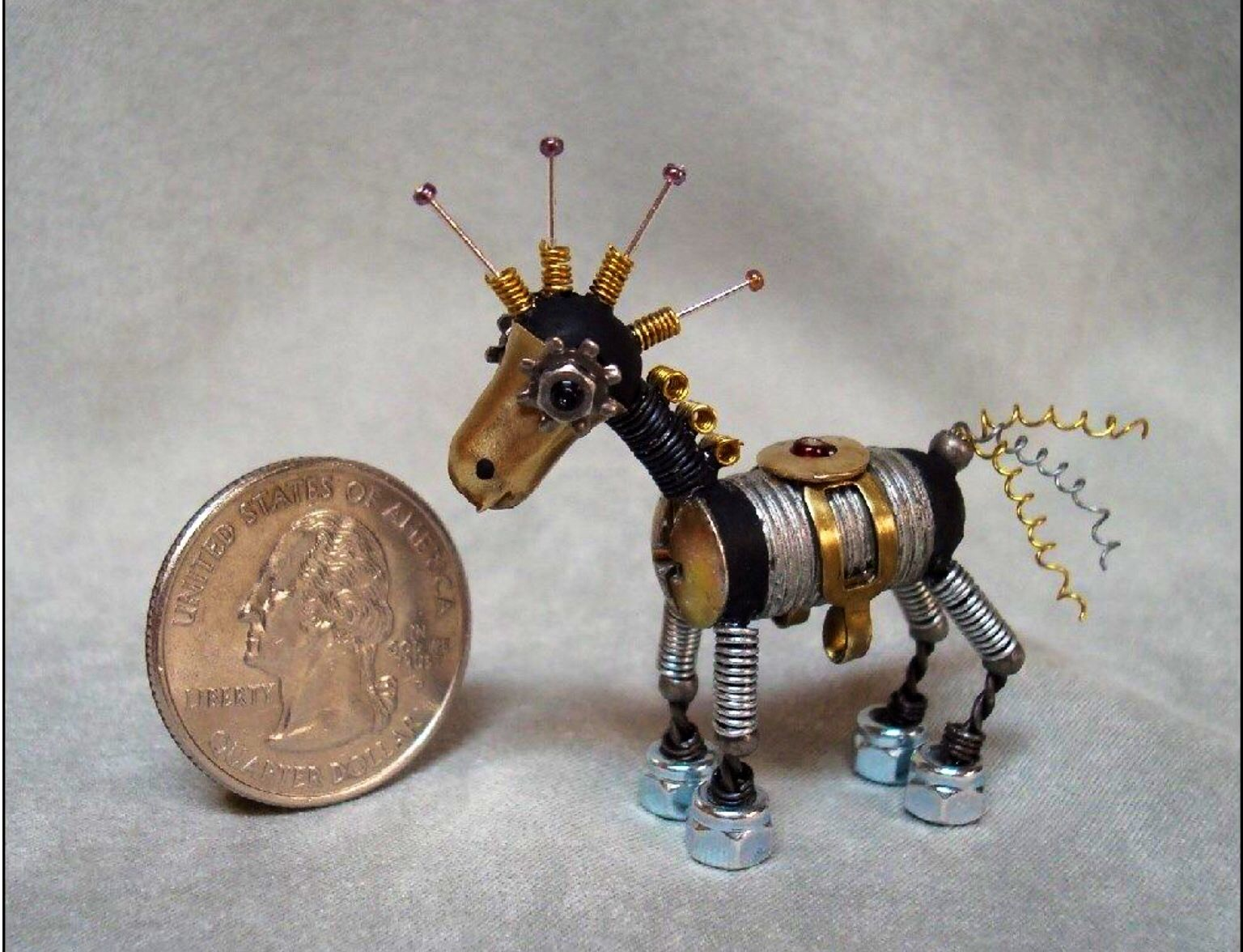 Found object robot horse