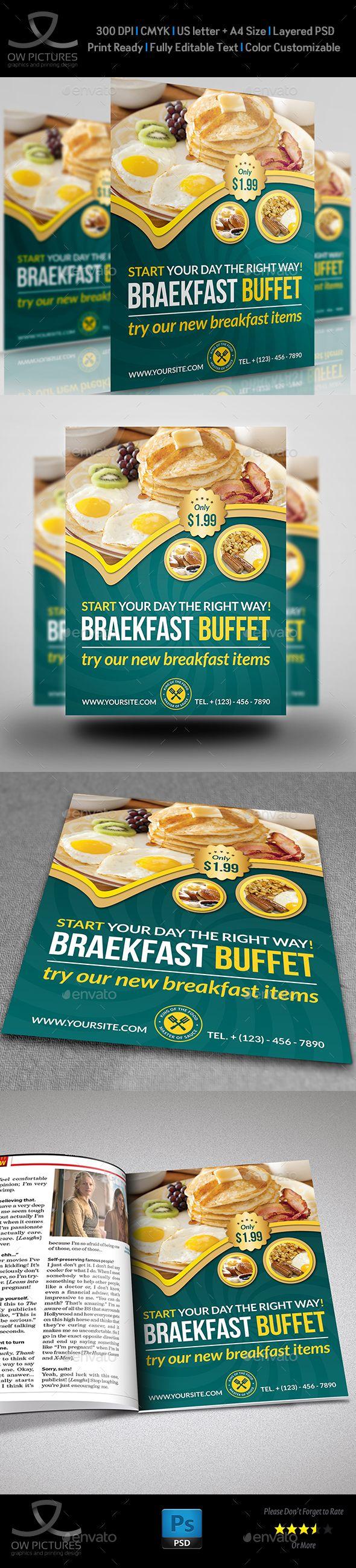 breakfast restaurant flyer template restaurant flyers food