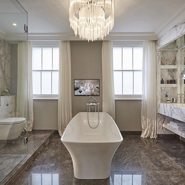 Gordijnen in de badkamer | Badkamer ideeën | Pinterest
