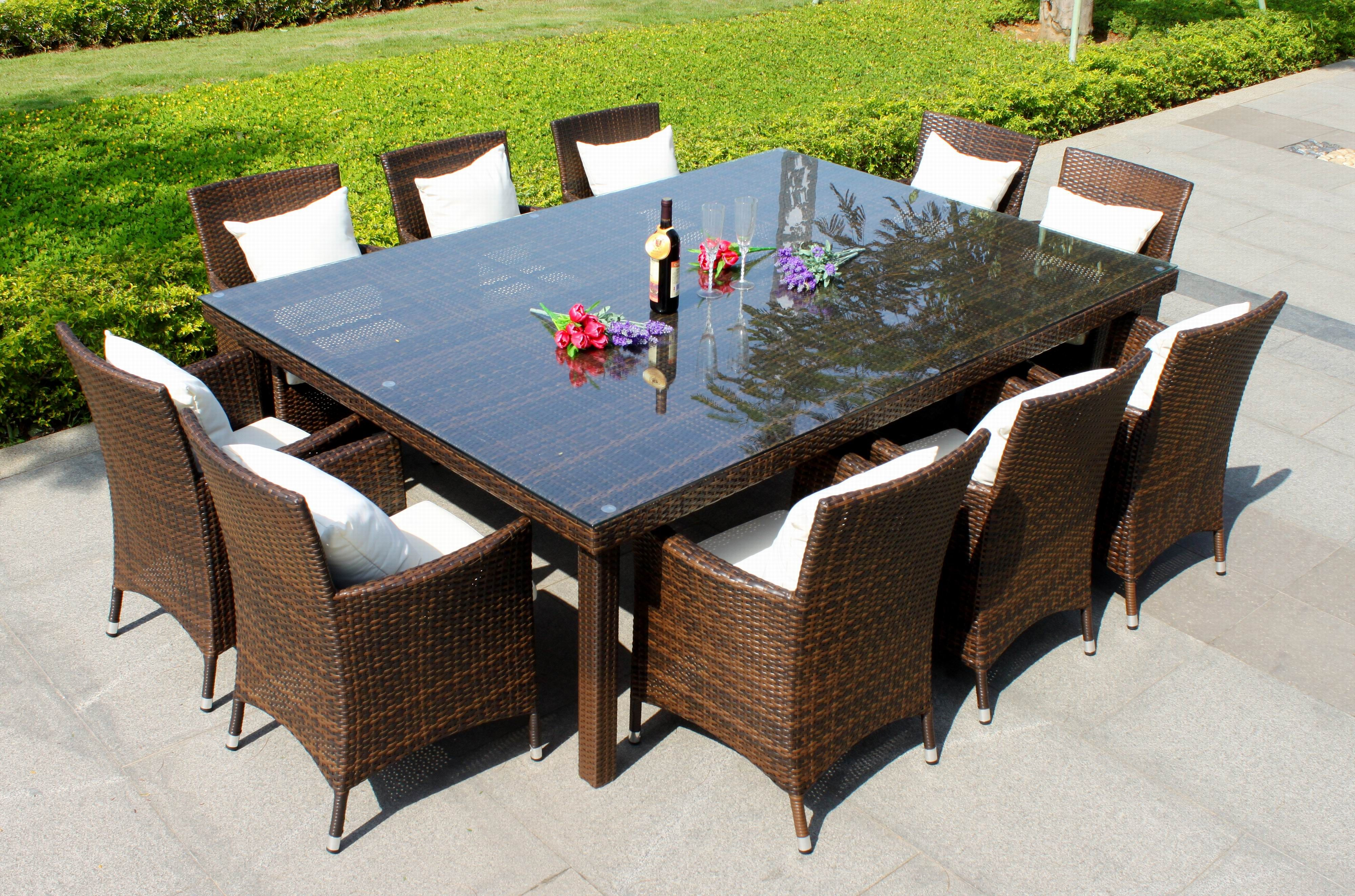10 Person Outdoor Dining Table Americas Furniture Superstore