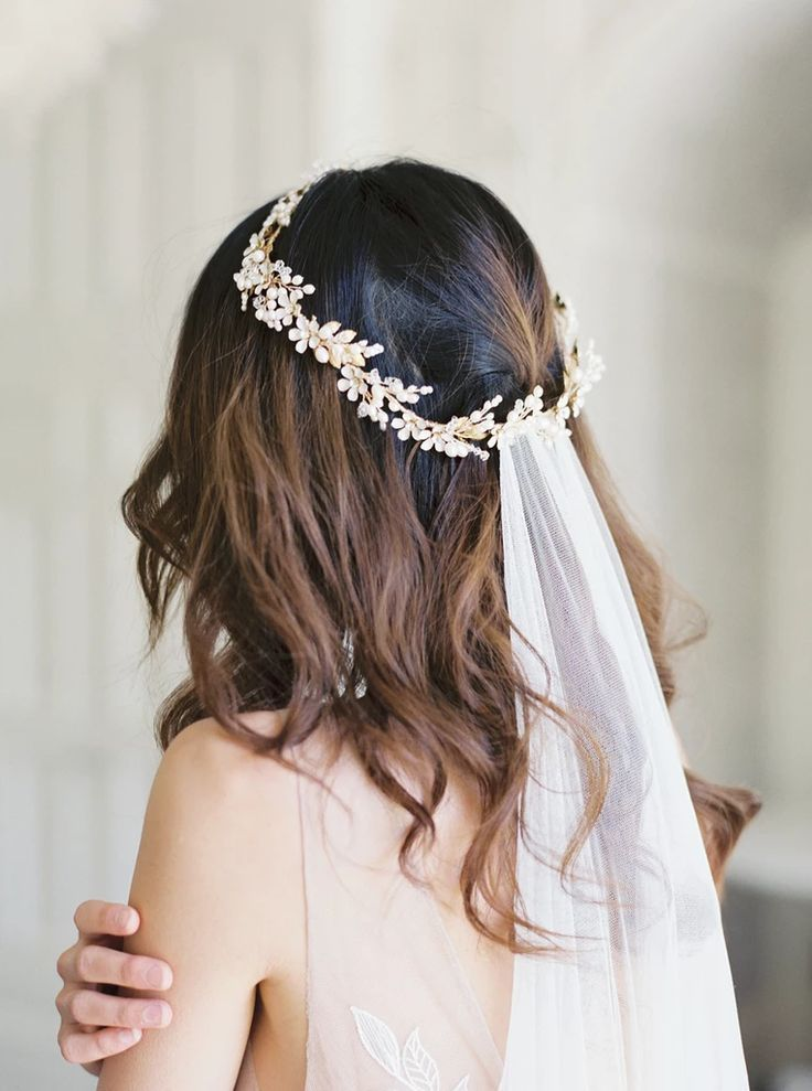 COLETTE Floral Wedding Crown Noon on the Moon in 2020