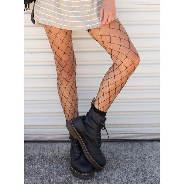 0cde9dd785b2a Thigh High Fishnet Stockings ($12) ❤ liked on Polyvore featuring intimates,  hosiery, tights, black, fishnet stockings, thigh high fishnet stockings, ...
