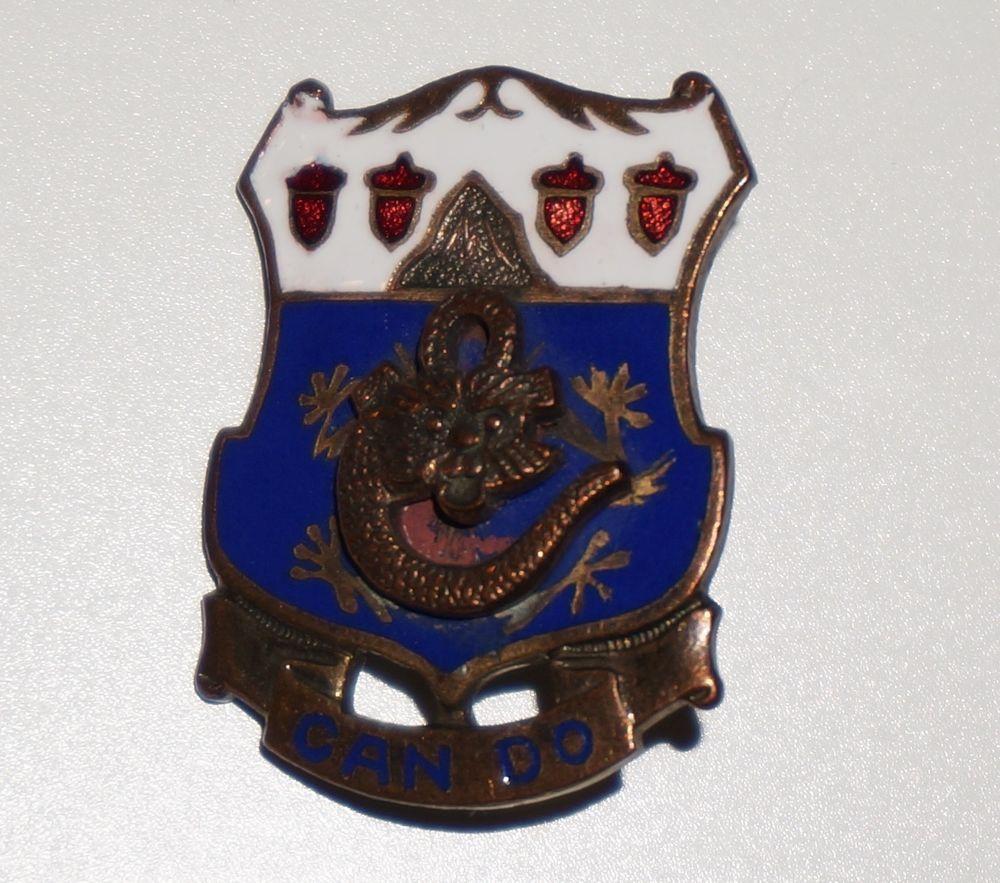 15th Infantry Regiment pre WWII DI DUI unit crest pin