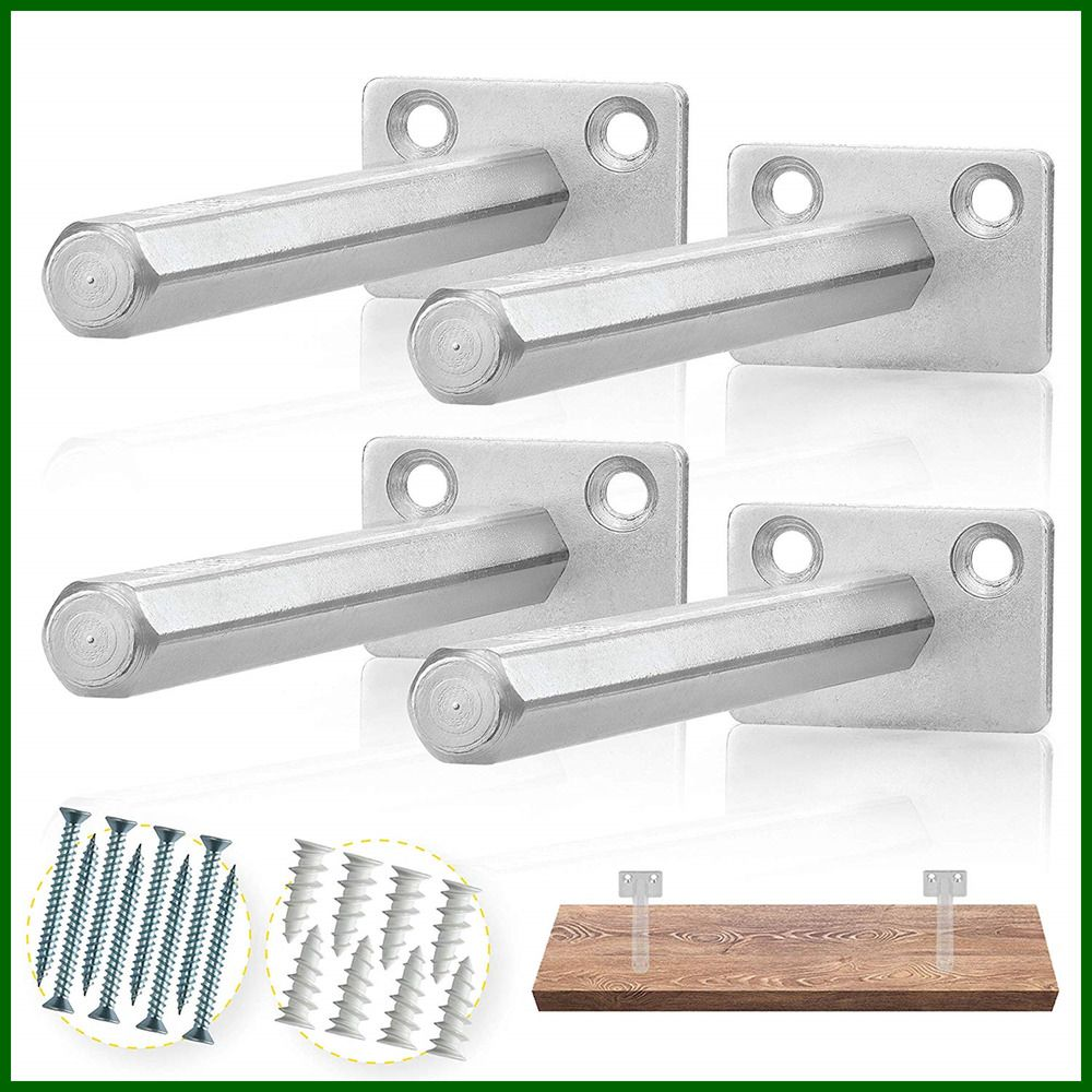 Floating Shelf Bracket 4 Pcs Galvanized Steel Blind Supports Hidden Brack Silver Fashion Home Garden Homedcor Wallshelves Ebay Link Ebay