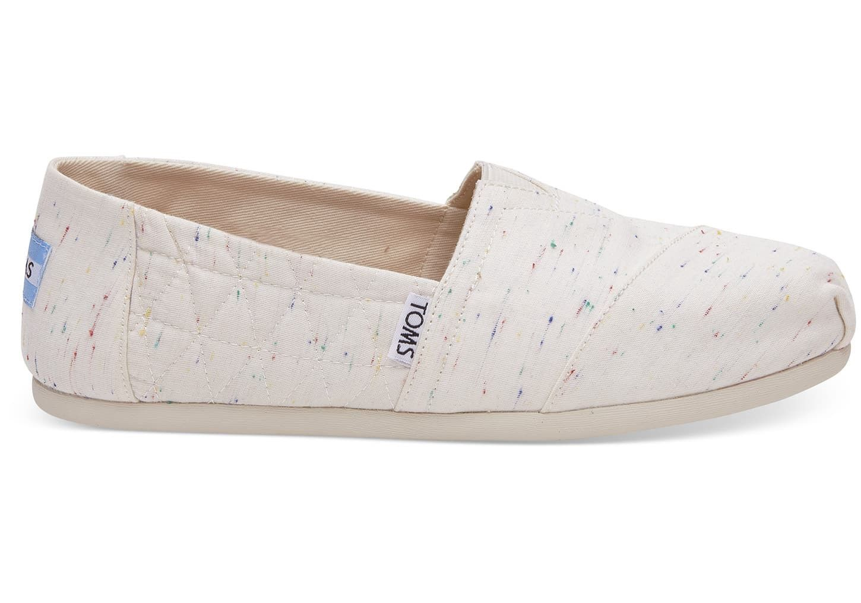Toms Birch Jersey Fleck Women s Alpargatas Shoes - 6.5  9dc4aa6c8e2