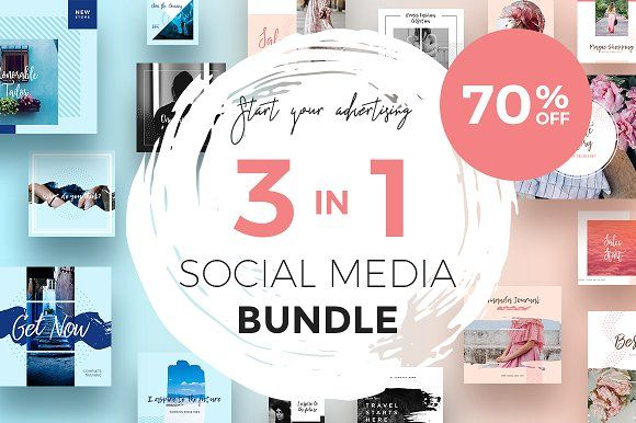 Best Social Media Packs For Businesses Like Instagram Pinterest Blog Facebook Fashion Brand More So Instagram Template Social Media Social Media Template