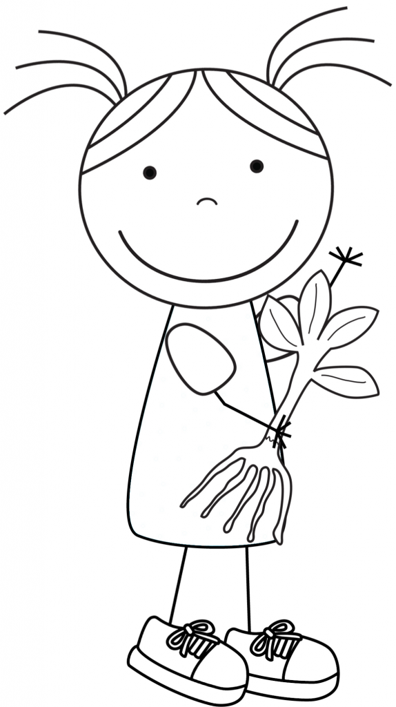 Kid Color Pages: Earth Day for Girls | RECICLAR | Pinterest | Día de ...