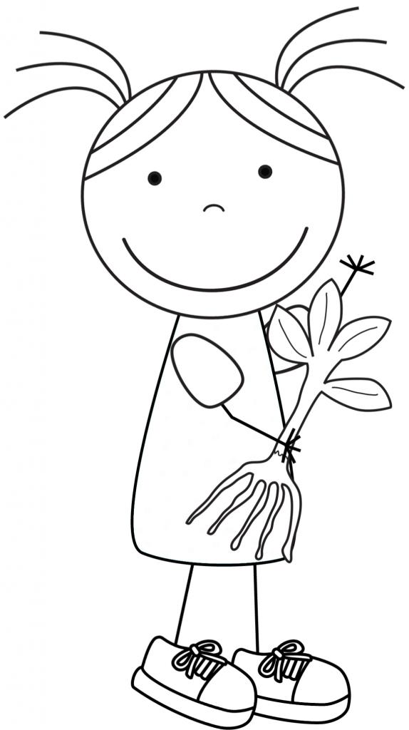 Kid Color Pages: Earth Day for Girls | Pinterest | Día de la tierra ...