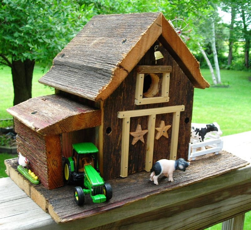 Homemade Rustic Birdhouses On Pinterest Http Www