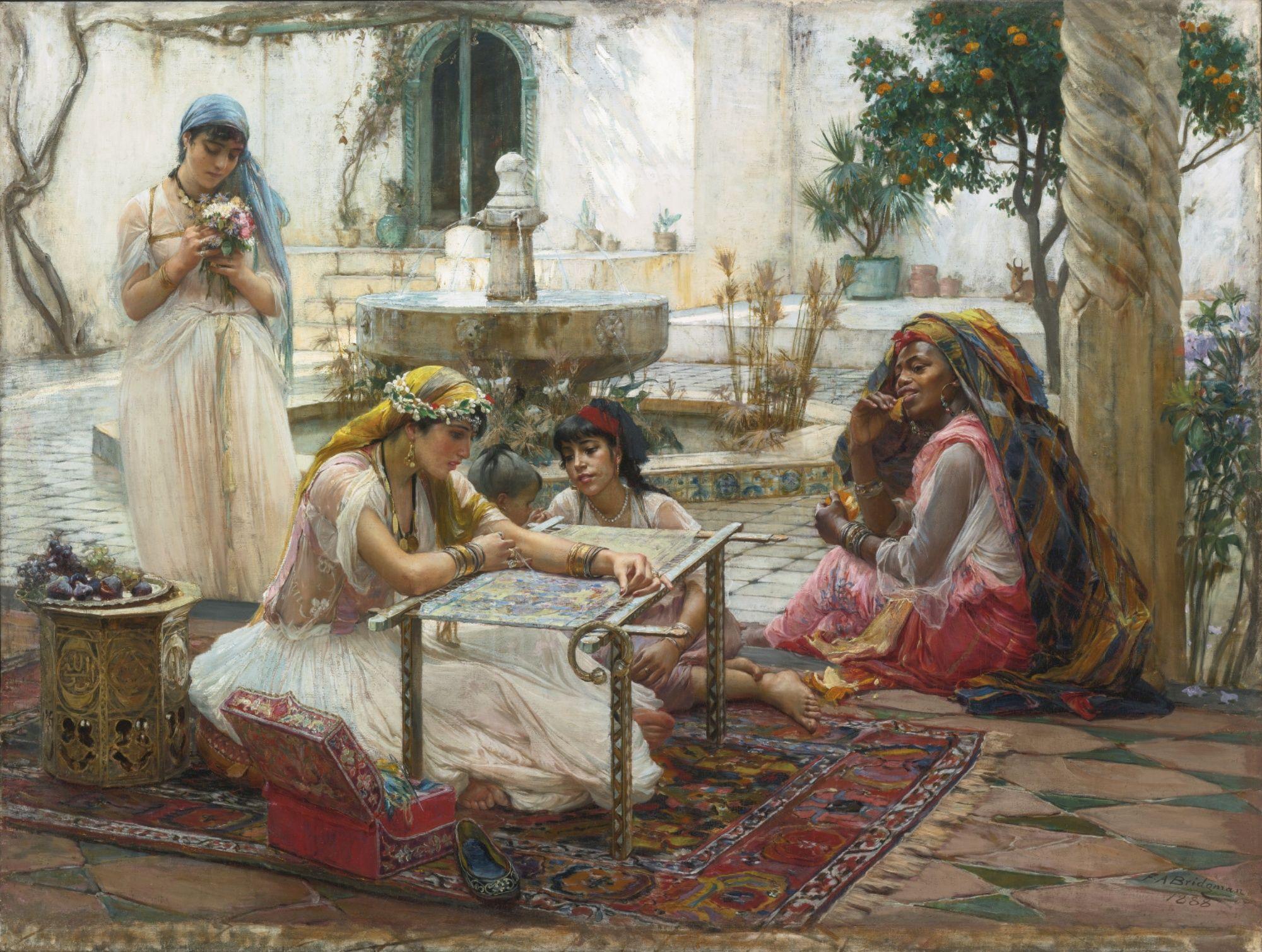 Frederick Arthur Bridgman (American, 1847-1928). Dans une Ville de Campagne Alger