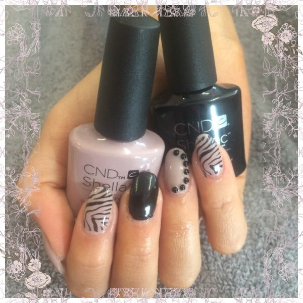 Shellac field fox and blackpool with stamping and gems ...