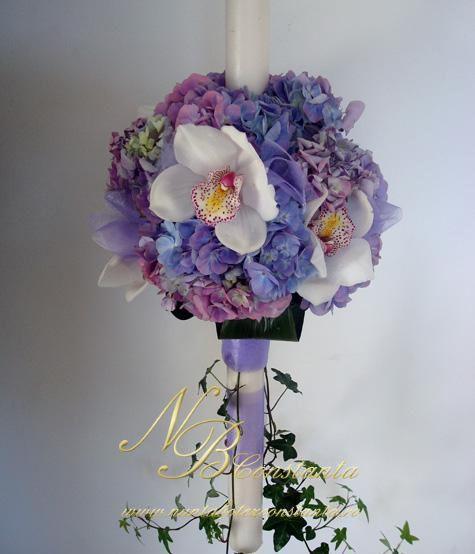 Lumanari De Botez Cu Flori Naturale Căutare Google Botez