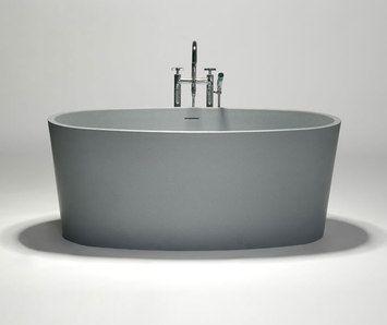 blu•stone one-piece freestanding bathtub-Blu Bathworks
