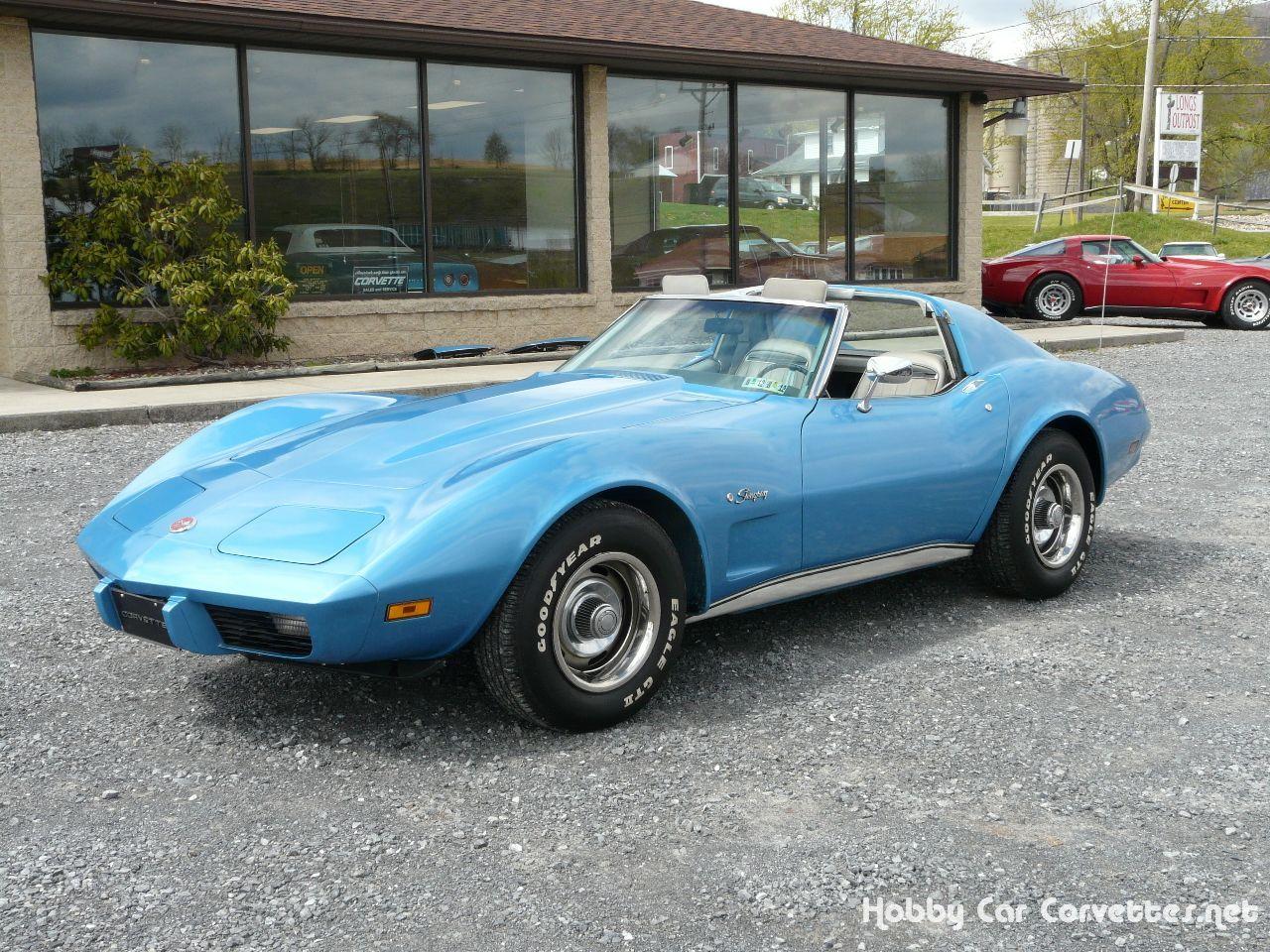 Check out this vette!  1975 Bright Blue Corvette    —  Classic C3 Corvettes for…