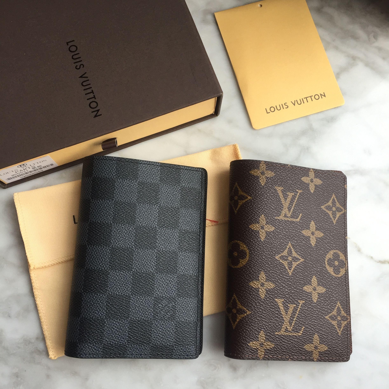 ce3833df9a04 Louis Vuitton Lv passport holder Damier graphite   monogram