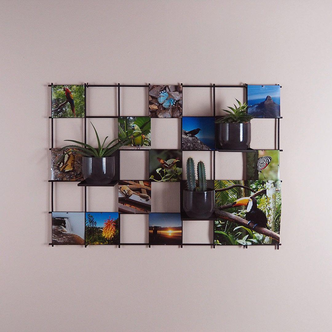 Fotos Mal Anderes Aufhängen Mit Mini Magneten Am Gitter In Diesem Fall Quadratische Bilder Mit Den Maßen 15x15cm Oder 30x30 Gitter Pinnwand Gitterwand Gitter