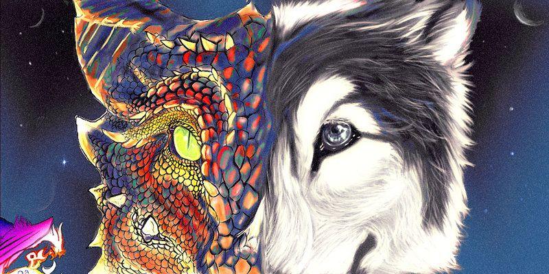 Wolf Vs Dragon Wallpaper