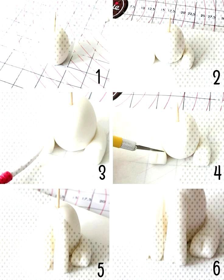 modelage licorne etape 1 - Fondant Figures, Fondant Cake Toppers, Fondant Cakes, Cupcake Cakes, Uni