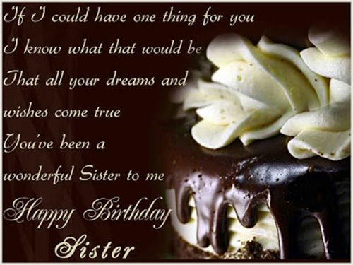 Birthday Cards Quotes For Sister ~ Heart touching birthday wishes for sister sister birthday