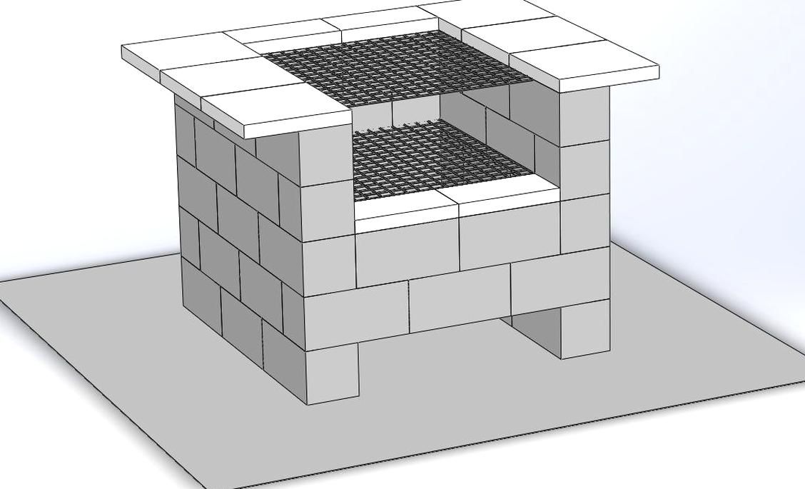 Cinder Block Grill Backyard Grill I Designed Hoping To Build Soon
