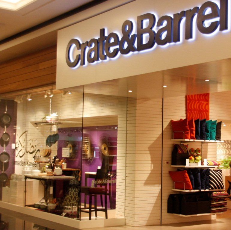 crate and barrel store. crate and barrel window display store b