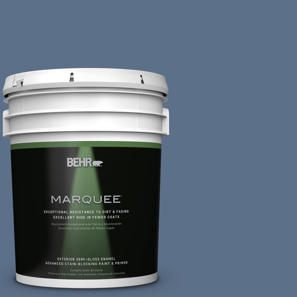 BEHR MARQUEE 5 Gal. #S520 6 Layers Of Ocean Semi Gloss
