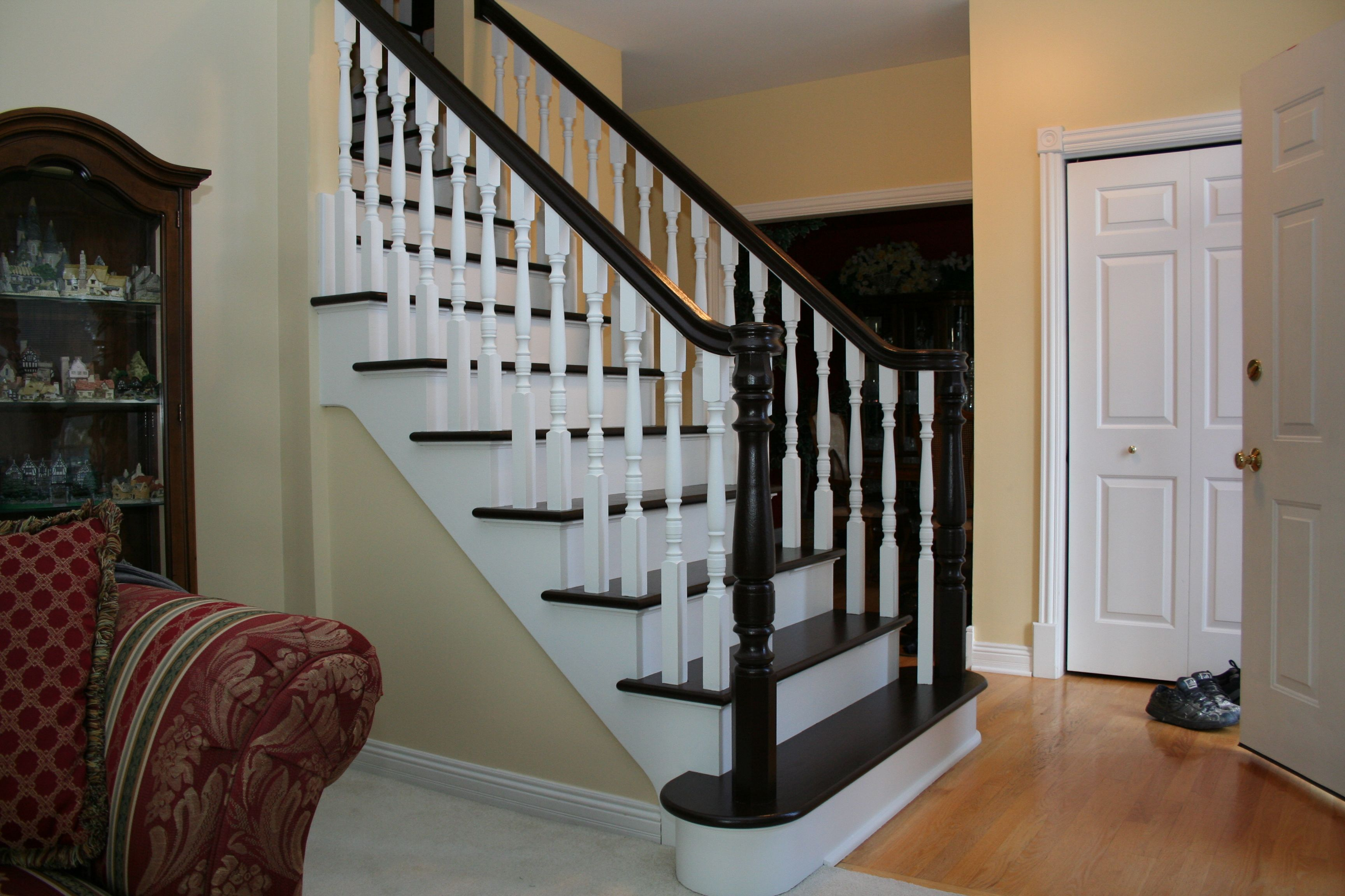 Painted staircase ideas pattern projects inspiration grey
