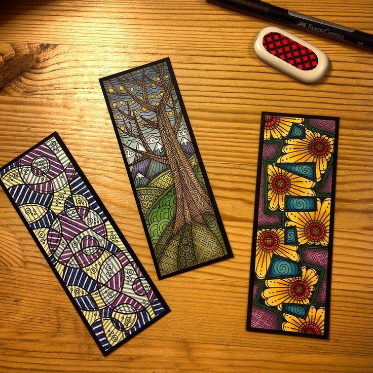 Zentangle bookmarks: