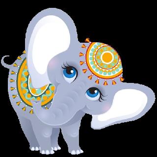 Cartoon Circus Elephant 4 Png 320 320 Risunki Karakuli Slony Milye Kotiki