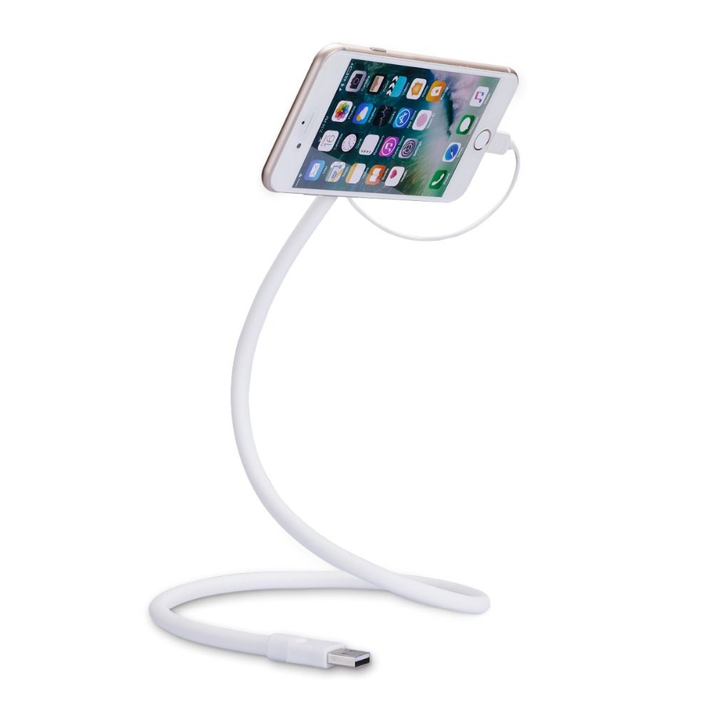 Car Mobile Phone Microusb Charger Stand Bracket Flexible Gooseneck - Clever magnetic wall clock charges phone wirelessly