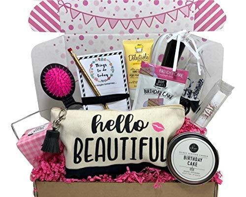 Complete Birthday Gift Basket Box For Her Women Mom Aunt Sister