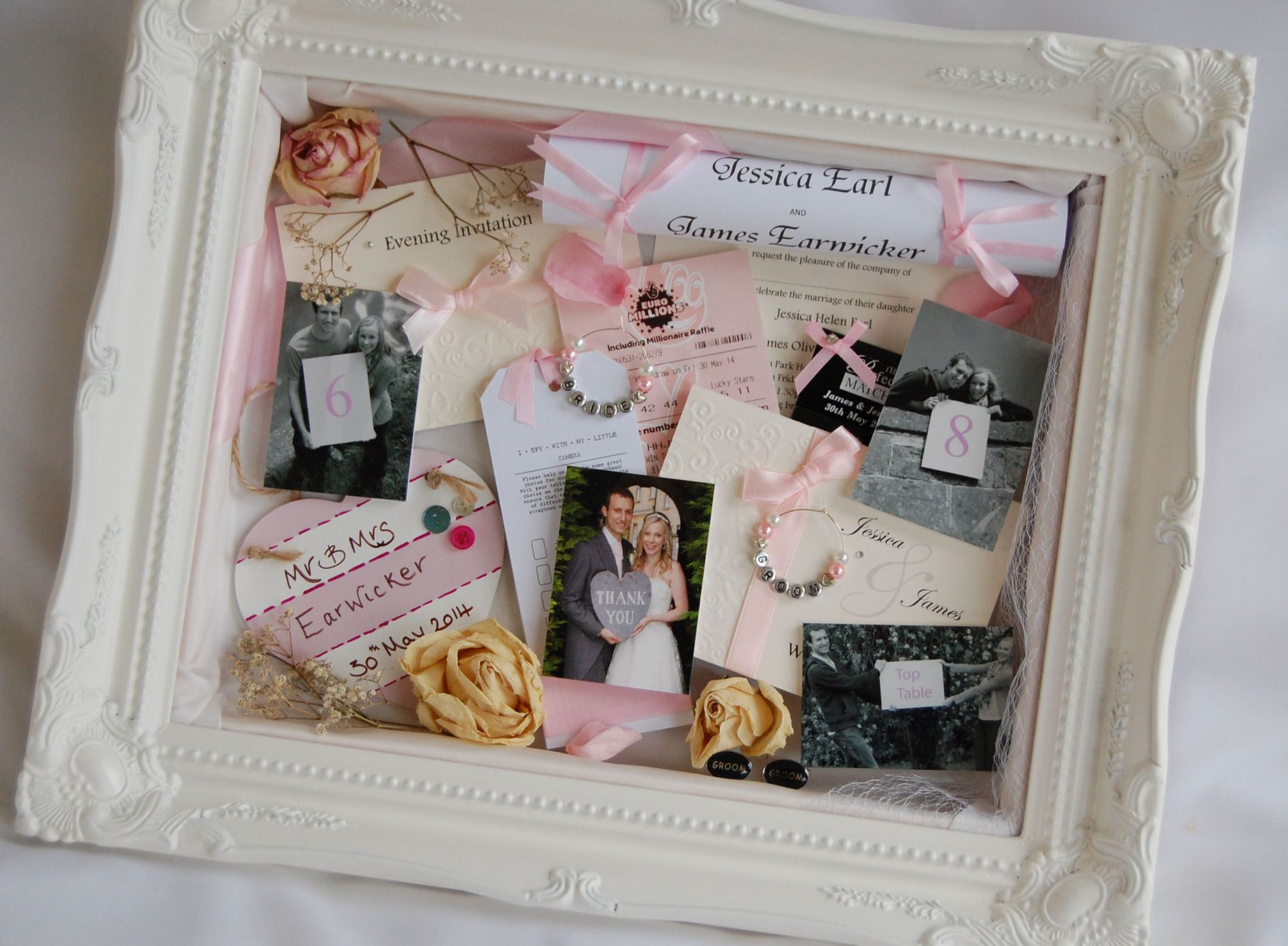 Wedding Ornate White Frame...I love this one for my wedding shadow box!