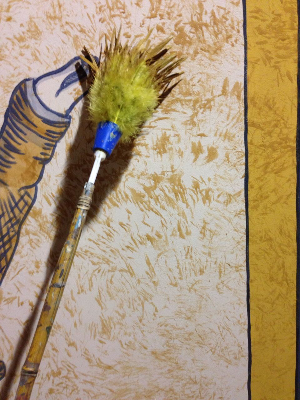 Schlepitchka--Wanna texture something really fast? Smack it with a feather duster a couple thousand times.