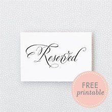 Free Printables And Diy Crafts Reserved Wedding Signs