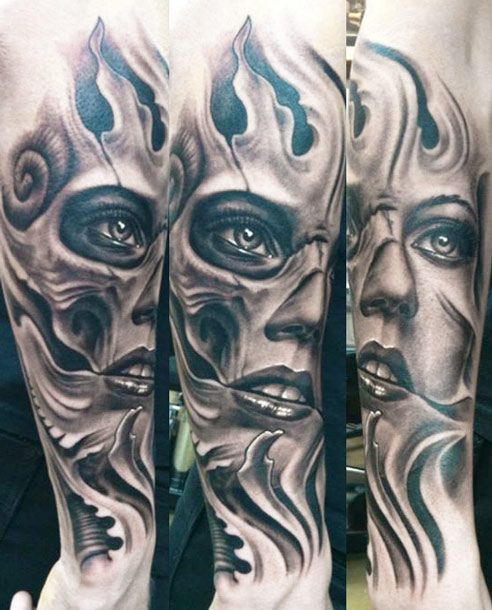 Pin By Jen Duffy On Tattoos: Face Tattoo By Josh Duffy Tattoo