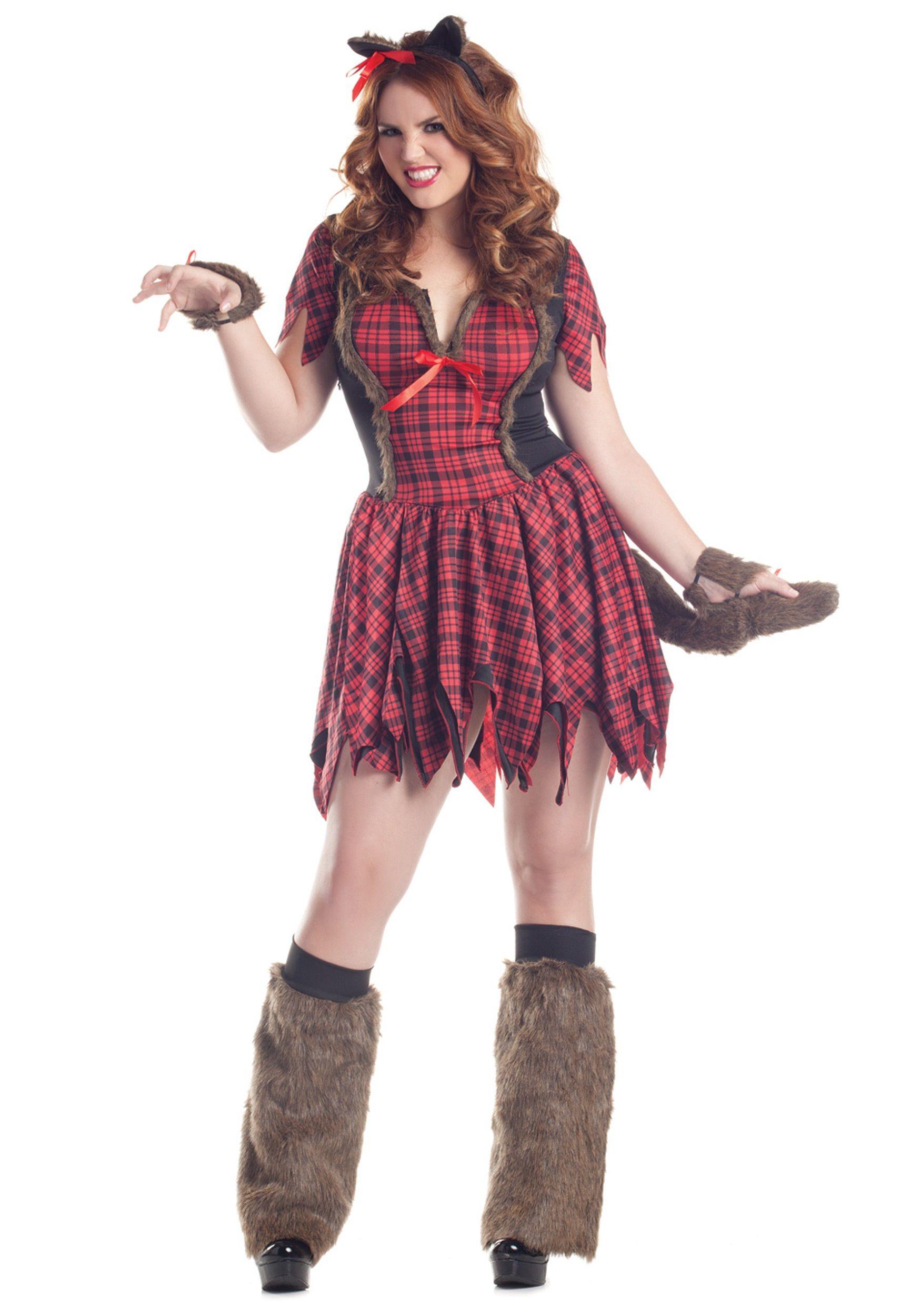 plus size sexy werewolf costume | plus size halloween costumes