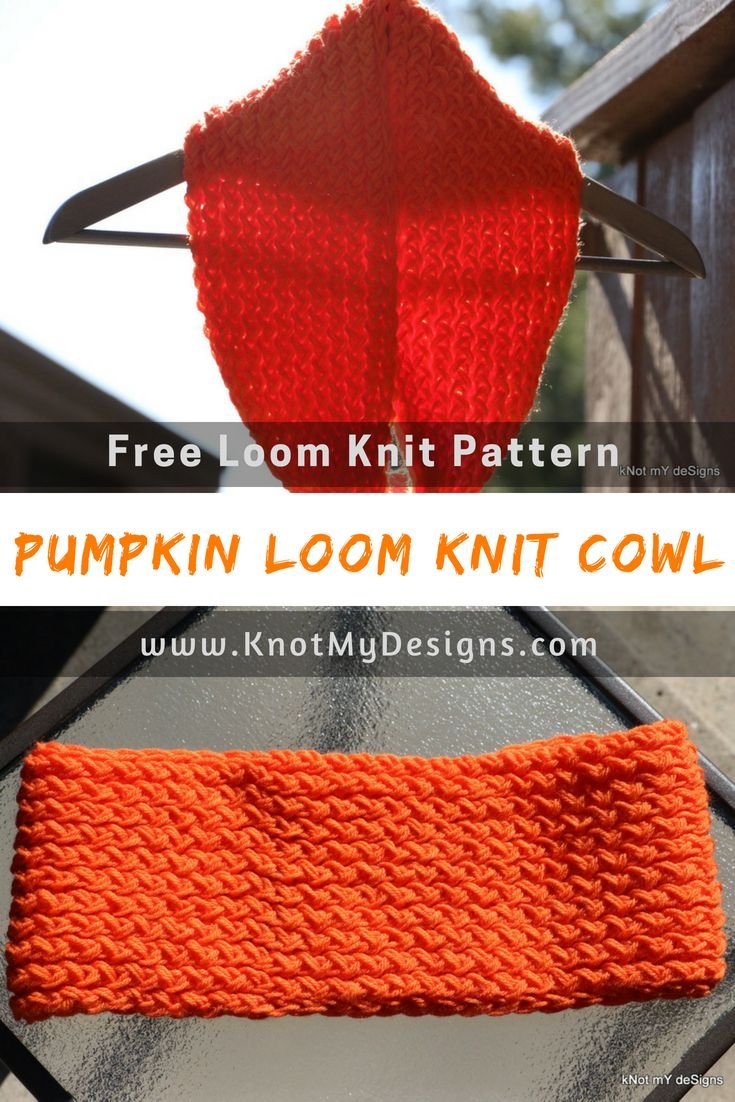 Free Loom Knit Pattern Scarf Pumpkin Loom Knit Cowl Yarn Scarf