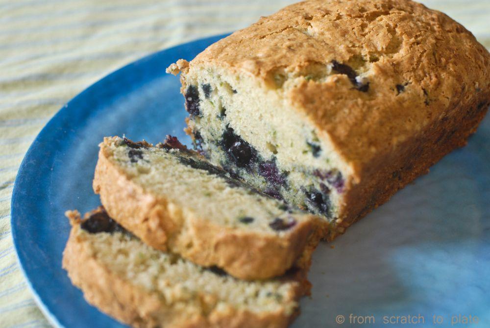 sour cream blueberry zucchini bread  blueberry zucchini