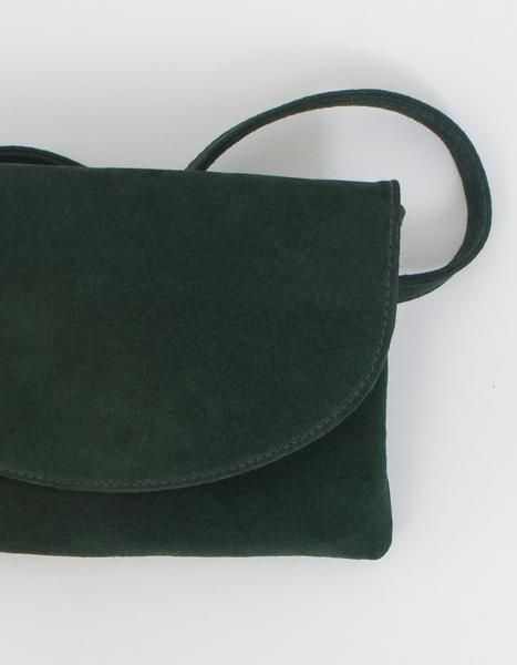 Ryder Mini Fannypack in Green Suede