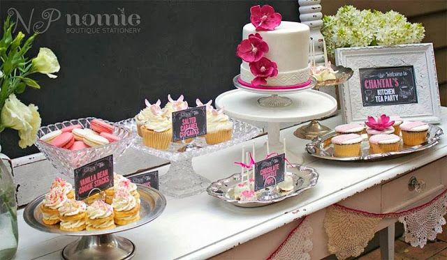 A Chalkboard and Floral Themed Kitchen Tea Party by Naatje