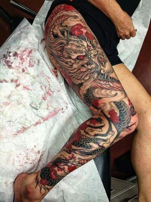 Foe Tattoo : tattoo, Dragon, Tattoos, Ideas, Women, Thigh, Women,, Tattoos,