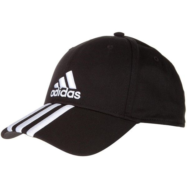 86e73e9eac6 Adidas Performance Performance Cap 3 Stripe Hat (19 CAD) ❤ liked on Polyvore  featuring accessories