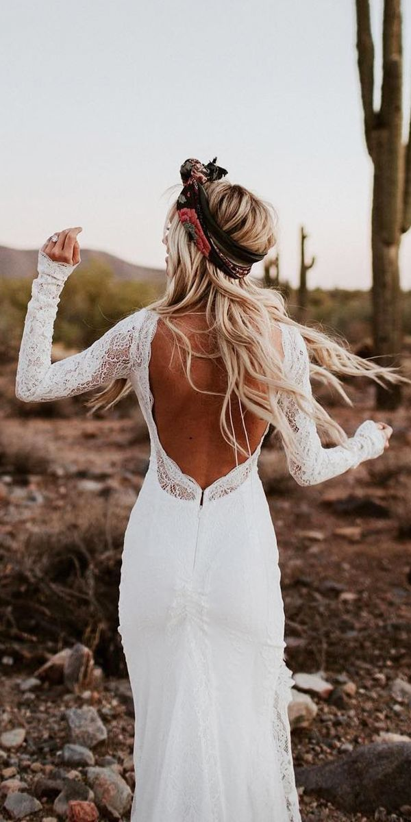 18 Rustic Lace Wedding Dresses For Different Tastes Of Brides #bohoweddingdress